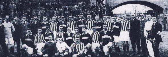 """Ausstellung """"100 Jahre Arbeiterfußball – 125 Jahre Arbeitersport"""" in Rostock"""